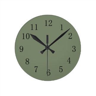 Camoflage Green Wall Clock