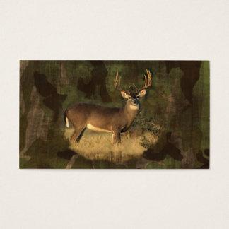 Camoflage Grunge Big Buck- Business Card