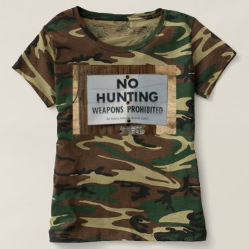 Camoflage Hunting Tee Shirt by creativeconceptss at Zazzle