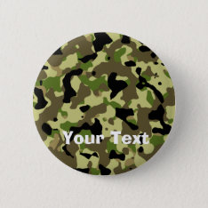 Camoflage Khaki Commando Game Badge Name Tag Button at Zazzle