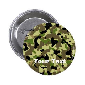 Camoflage Khaki Commando Game Badge Name Tag Button