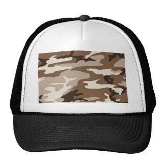 Camoflauge del desierto gorras de camionero