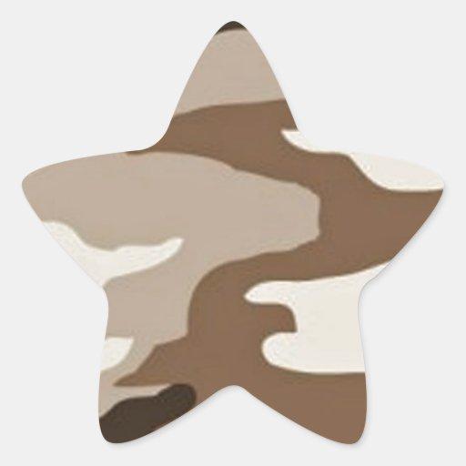 Camoflauge del desierto pegatina en forma de estrella