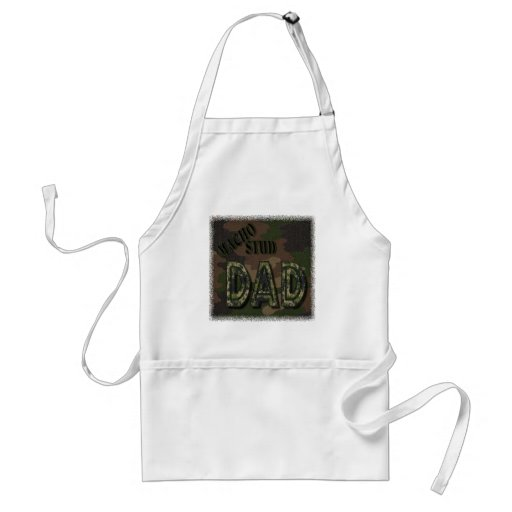 CAMOFLAUGE MACHO STUD DAD! MANLY GIFT ADULT APRON