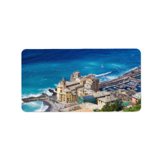 Camogli, aerial view custom address label
