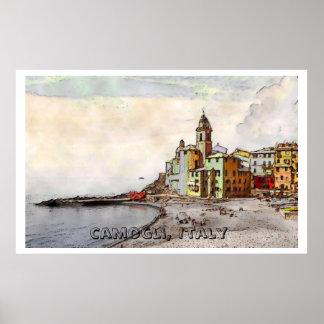 Camogli Beach, lg poster
