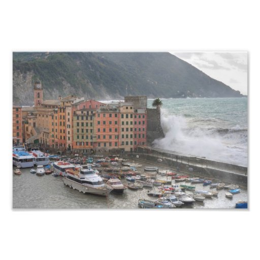 Camogli during a storm photo