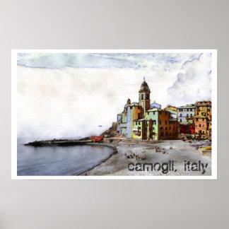 Camogli, Italy art poster