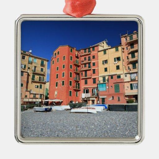 Camogli, Italy Square Metal Christmas Ornament
