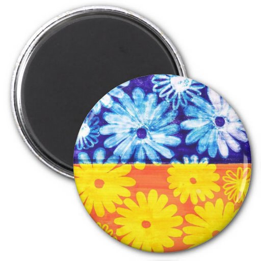 camomile 2 inch round magnet