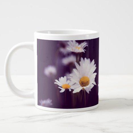 Camomile dreams. Add monogram. Giant Coffee Mug