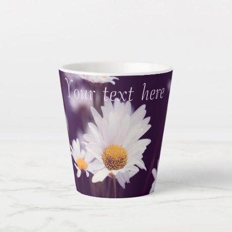 Camomile dreams. Add text. Latte Mug