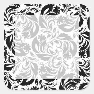 camomiles square sticker