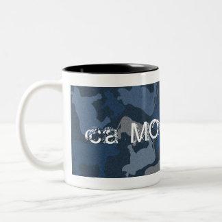 CaMOOflage Cow collage in blue Coffee Mug
