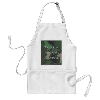 CaMOOflage Cow collage in green Adult Apron