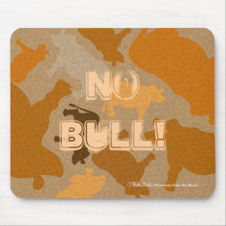 CaMOOflage Cow Collage in Orange Mouse Pad
