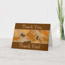 CaMOOflage Cow Collage in Orange Thank You Card