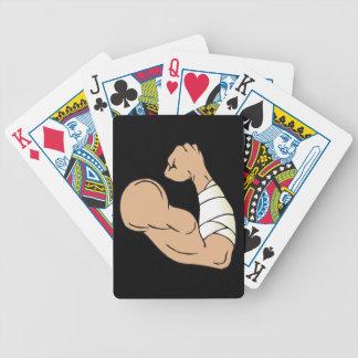 Camorrista desnudo del nudillo baraja de cartas