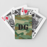 Camouflag color playing cards with custom monogram