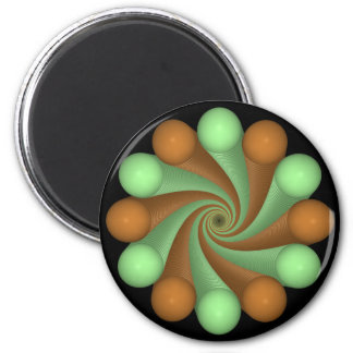 Camouflage 2 Inch Round Magnet