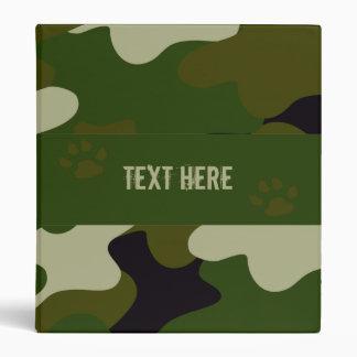Camouflage 3 Ring Binder