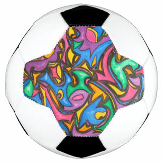 Camouflage - Abstract Art Hand Painted Soccer Ball