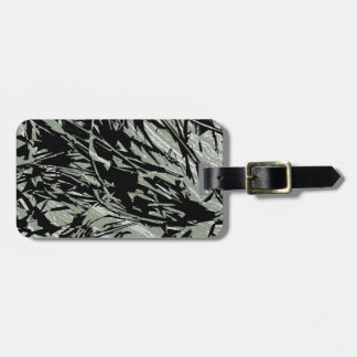Camouflage Abstract Silhouettes Bag Tag