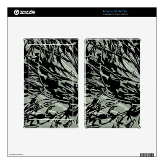 Camouflage Abstract Silhouettes Kindle Fire Skin