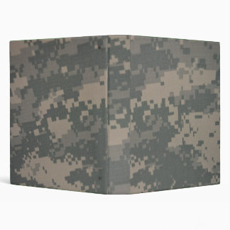 Camouflage ACU Pattern Troops Deployment Support 3 Ring Binder