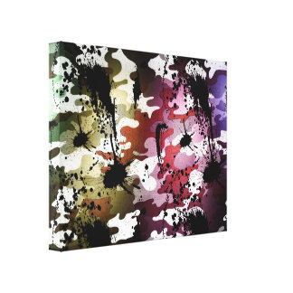 Camouflage Addicted Canvas Print