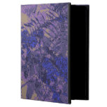 Camouflage against blue flower iPad air case