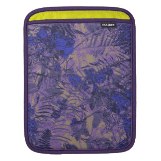 Camouflage against blue flower sleeve for iPads