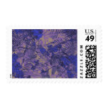 Camouflage against blue flower stamp