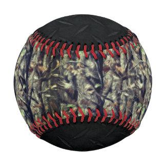 Camouflage and Black Diamond Plate Baseball