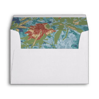 Camouflage and flowers envelope
