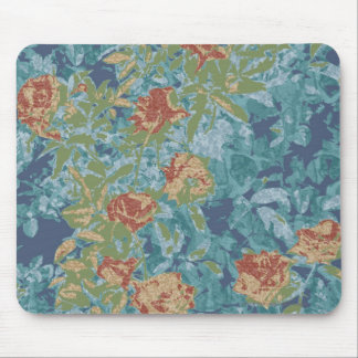 Camouflage and flowers mouse pad