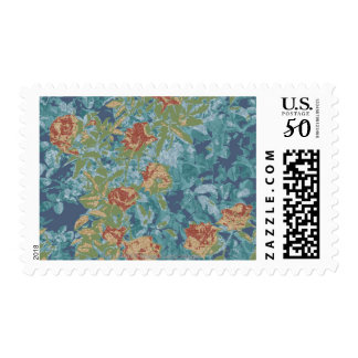 Camouflage and flowers postage