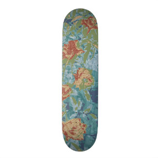 Camouflage and flowers skateboard