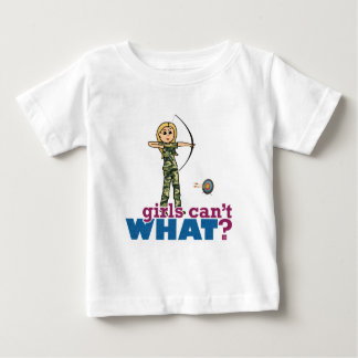 Camouflage Archery Girl - Blonde Baby T-Shirt