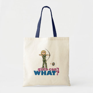 Camouflage Archery Girl - Blonde Budget Tote Bag