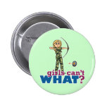 Camouflage Archery Girl - Blonde Button