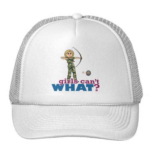 Camouflage Archery Girl - Blonde Hat
