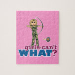 Camouflage Archery Girl - Blonde Jigsaw Puzzle