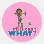 Camouflage Archery Girl - Dark Stickers