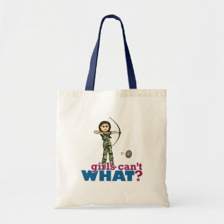 Camouflage Archery Girl - Light Canvas Bags