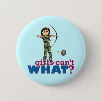 Camouflage Archery Girl - Light Button