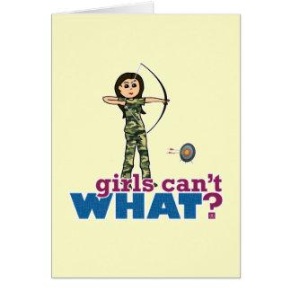 Camouflage Archery Girl - Light Card