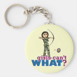 Camouflage Archery Girl - Light Keychain