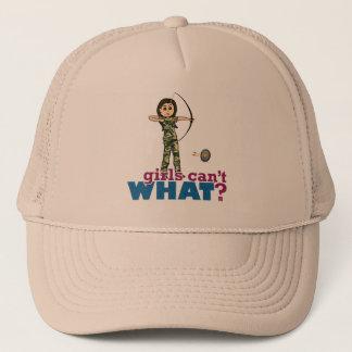 Camouflage Archery Girl - Light Trucker Hat