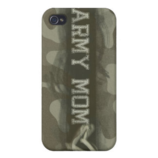 Camouflage Army Mom Loves Her Soldier iPhone 4 Cover